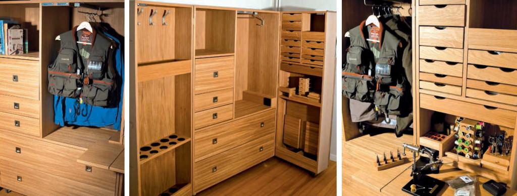 Flyfishing home concept des meubles la mesure du p cheur - Meuble pour ranger les verres ...
